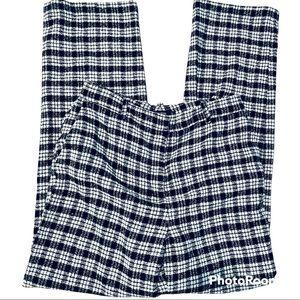 Zara Wool Blend Black/White Stripes Trouser Pant